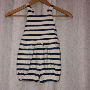 Ralph Lauren EUC Girls shorts romper size 24M🌸🐳